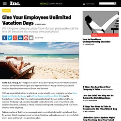 Give Your Employees Unlimited Vacation Days