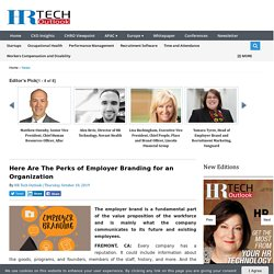 Here Are The Perks of Employer Branding for an Organization