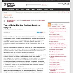 Tours of Duty: The New Employer-Employee Compact
