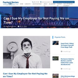 Can Employer Be Sued For Not Paying Me On Time?