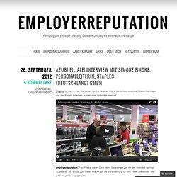Azubi-Filiale! Interview mit Simone Fincke, Personalleiterin, Staples (Deutschland) GmbH « employerreputation