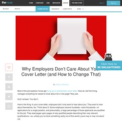 Why Employers Don't Care About Your Cover Letter (and How to Change That)