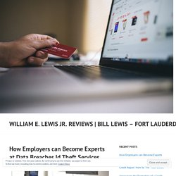How Employers can Become Experts at Data Breaches Id Theft Services – William E. Lewis Jr. Reviews