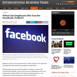 When Can Employers Fire You for Facebook, Twitter?