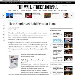 How Employers Raid Pension Plans