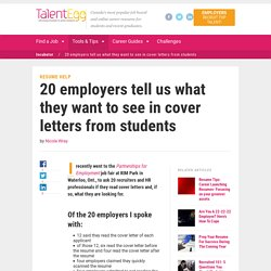 20 employers tell us what they want to see in cover letters from studentsTalentEgg Career Incubator