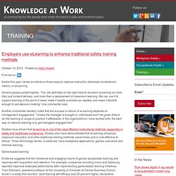 Employers use eLearning to enhance traditional safety training methods