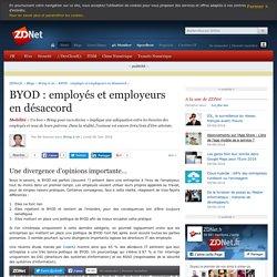 BYOD : employés et employeurs en désaccord - ZDNet