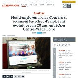 Plus d'employés, moins d'ouvriers : comment les offres d'emploi ont évolué, depuis 20 ans, en région Centre-Val de Loire - Orléans (45000)