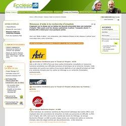 Réseaux d'aide à la recherche d'emplois — Ecclésia RH - Le site des salariés, des employeurs et bénévoles de la communauté chrétienne