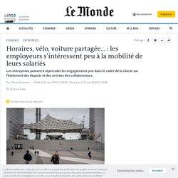 Horaires, vélo, voiture partagée... : les employeurs s'intéressent peu à la mobilité de leurs salariés