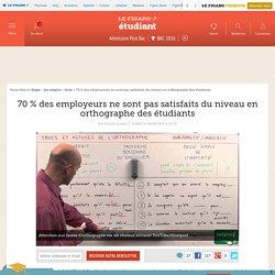 70 % des employeurs ne sont pas satisfaits du niveau en orthographe des étudiants