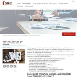 Congés payés : Liste des Droits et Devoirs des employeurs et salariés