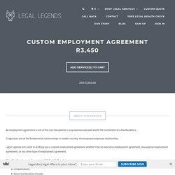 Custom Employment Agreement R3,450