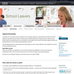 IBM Business / Technology Apprenticeships