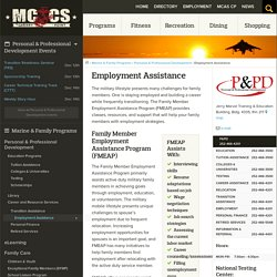 Employment Assistance - MCCS Cherry Point