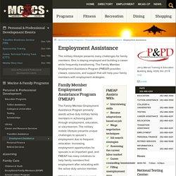 Employment Assistance - MCCS Cherry Point