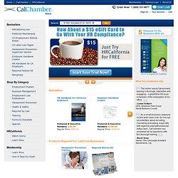 Home - California Labor Code, California Labor Law, FMLA, California Minimum Wage, Sexual Harassment Training, Employee Handbook - CalBizCentral Store