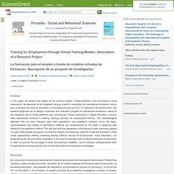 Training for Employment through Virtual Training Models: Description of a Research Project