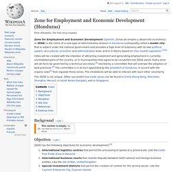 Zone for Employment and Economic Development (Honduras)