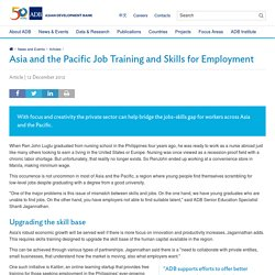 Asia and the Pacific Job Training and Skills for Employment