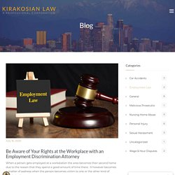 Be Aware of Your Rights at the Workplace with an Employment Discrimination Attorney - Los Angeles Personal Injury Attorney