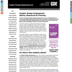 Graphic Design Employment Advice and Essential Job Training