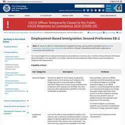 Employment-Based Immigration: Second Preference EB-2