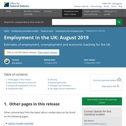 Employment in the UK