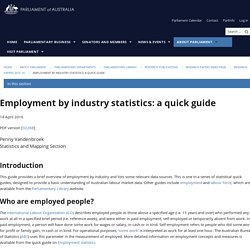 Employment by industry statistics: a quick guide