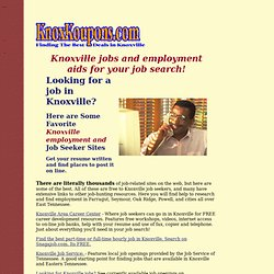 Knoxville employment, job career resources, job information