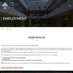 Employment - Hamelin Laie International School - Montgat (Barcelona)