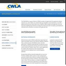 EMPLOYMENT & INTERNSHIPS – CWLA