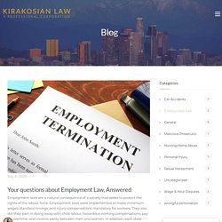 Your questions about Employment Law, Answered - Los Angeles Personal Injury Attorney