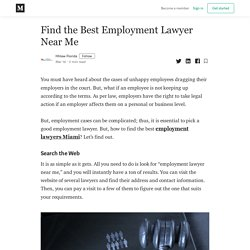 Find the Best Employment Lawyer Near Me