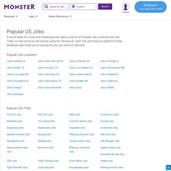 Find Local Jobs & Employment Listings - FlipDog Job Search