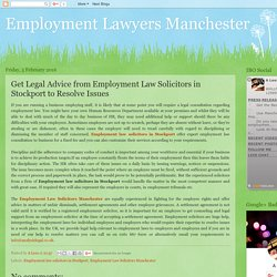 Get Legal Advice from Employment Law Solicitors in Stockport to Resolve Issues