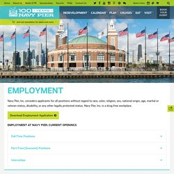 Employment at Navy Pier