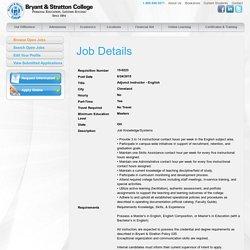 Employment Opportunities - Bryant & Stratton