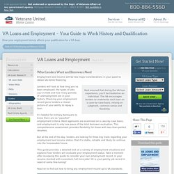 Can You Get a VA Loan With Less Than Two Years of Steady Employment?