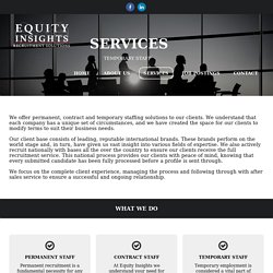Staffing Agencies - equityinsights.co.za