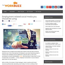 Employment-related social media you should be using