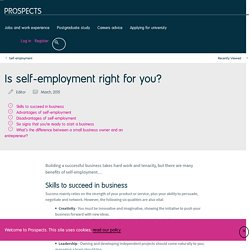 Is self-employment right for you?