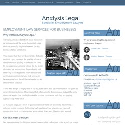 Employment Solicitors Manchester