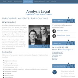 Employment Law Solicitors Stockport