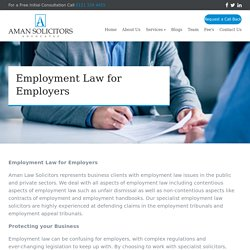 Professional Services for Employment Law For Employers