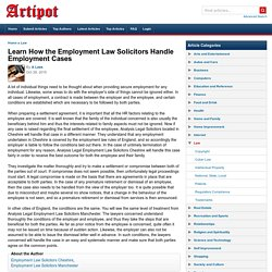 Learn How the Employment Law Solicitors Handle Employment Cases