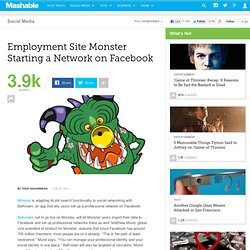 Employment Site Monster Starting a Network on Facebook
