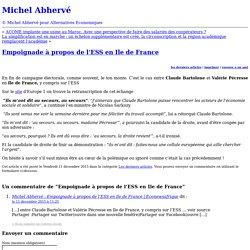 Empoignade à propos de l'ESS en Ile de France