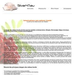 Metaux lourds empoisonnement aluminium mercure plomb chelation